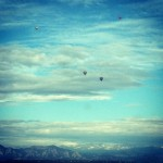 Saw these 4 hot air balloon driving home one day.