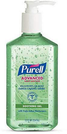 bottle of Purell hand sanitizer