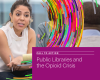 """cover of the """"Call to Action. Public Libraries and the Opioid Crisis"""" report from PLA, WebJunction, and OCLC"""